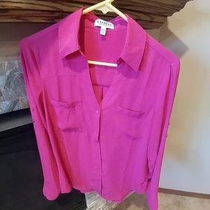Hot pink express portfolio shirt
